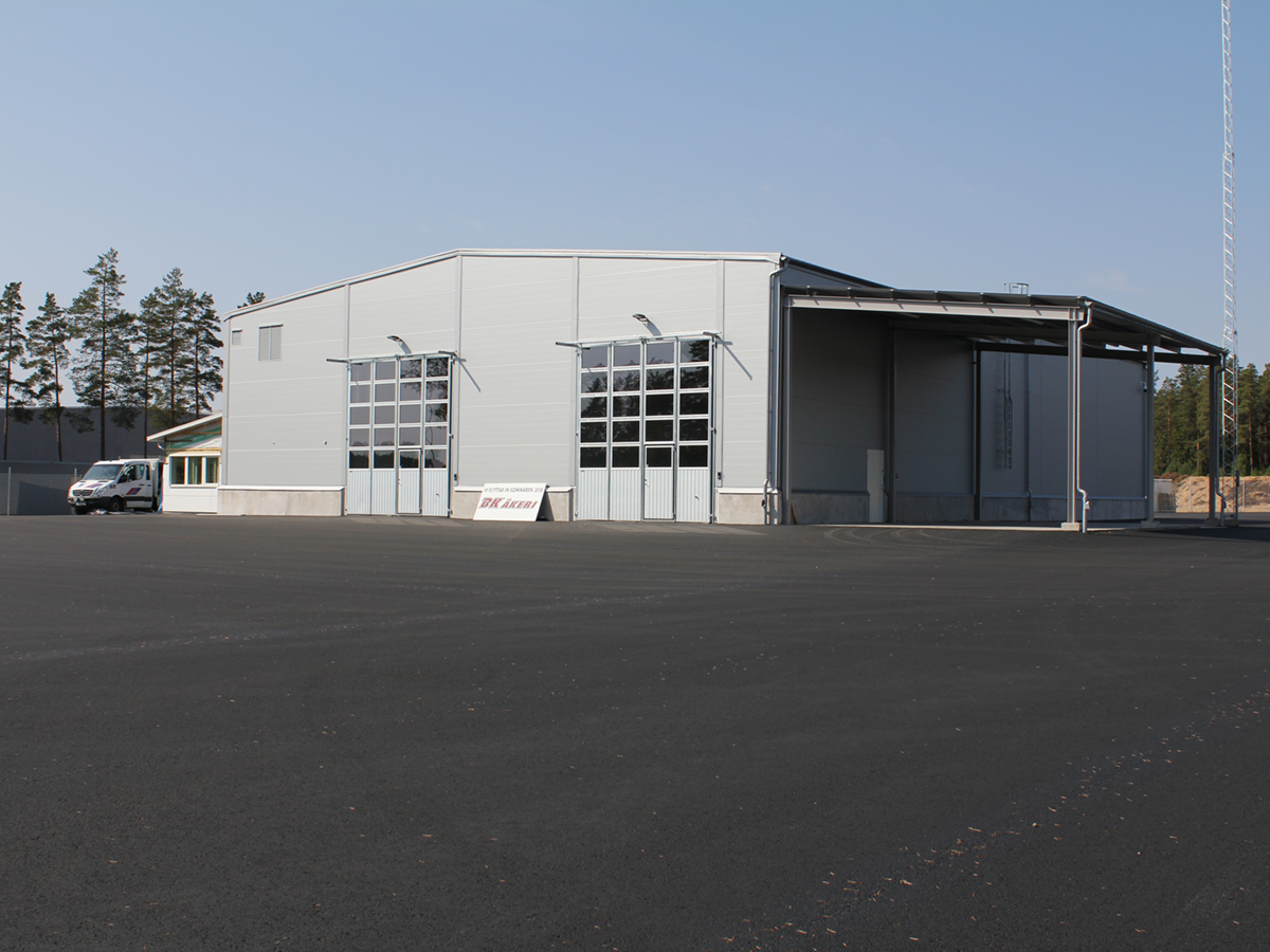 BK Åkeri - Nybyggnad åkerilokaler i Vaggeryd
